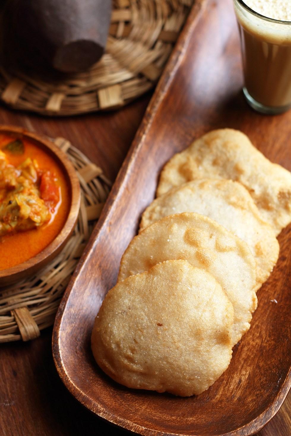 Neipathiri/Neipathal Recipe(Kerala style rice puri)