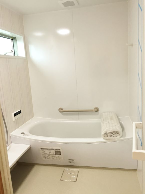 重心の息子の入浴に備えて通常の1.5倍の風呂