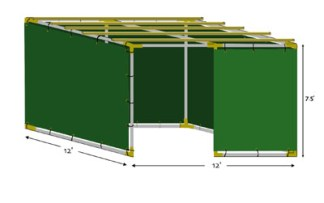 12x12 Tubular Sukkah Kit