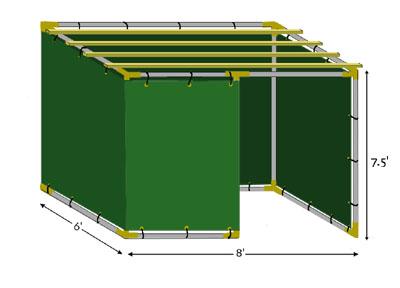 6x8 Tubular Sukkah Kit