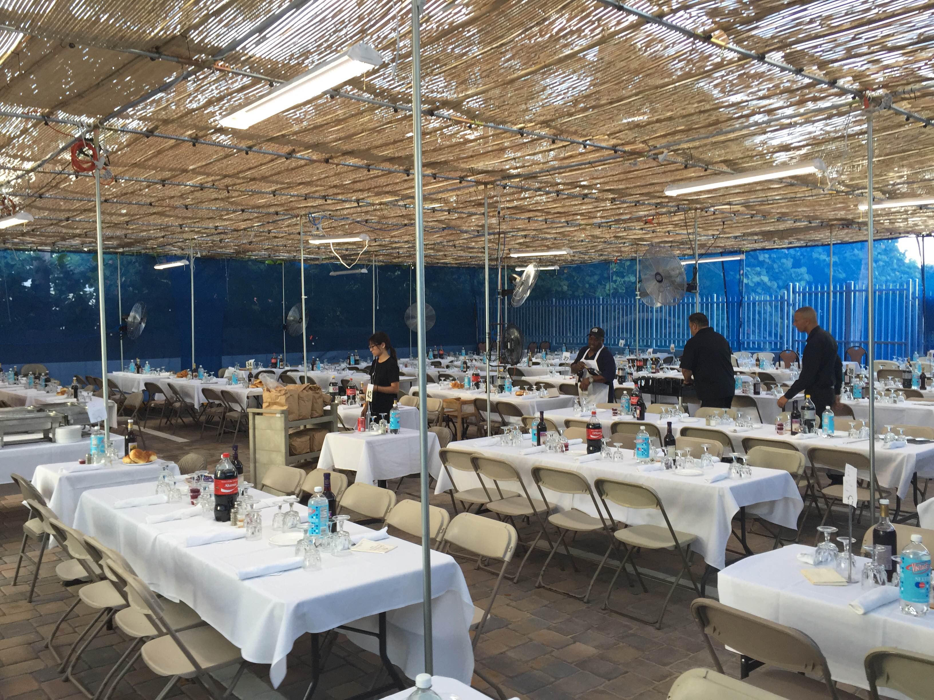 Custom sukkah for Miami Beach restaurant