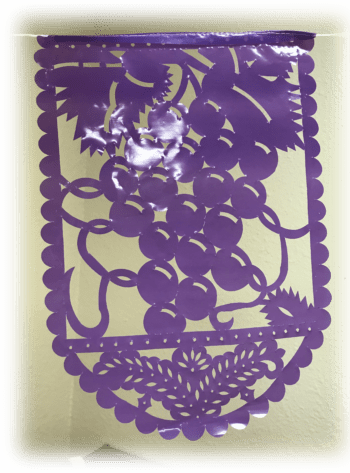 Grapes Flag sukkah decoration from The Sukkah Project®