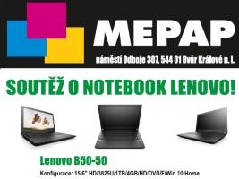 Atraktivní soutěž o notebook Lenovo