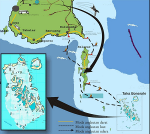 Takabonerate Diving Map