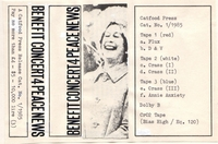 Copertina cassette Benefiit Concert 4 Peace News