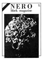 Fanzine Nero prima serie n. 1 copertina