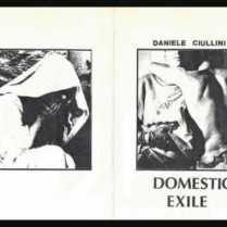 Daniele Ciullini, Domestic Exile Cover tape c20 1983 autoprodotta, contenente libretto e quattro cartoline.