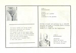 Daniele Ciullini Domestic Exile interno tape c20 1983 autoprodotta, autoprodotta, contenente libretto e quattro