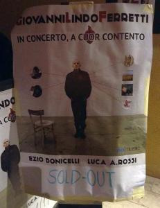Giovanni Lindo Ferretti 2014 Brescia locandina sold out