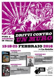 Dritti contro un muro Sobilla Verona 2016 anarcopunk punx punk sobilla, marco pandin, kina