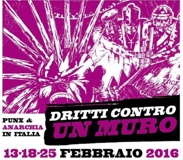 Dritti contro un muro Sobilla Verona 2015 anarcopunk logo