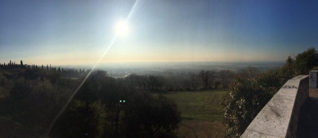 Bruma al mattino, da Custoza verso Villafranca Verona