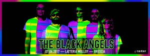 The Black Angels gig poster Latteria Molloy Brescia