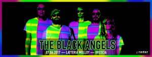 The Black Angels gig poster Latteria Molloy Brescia
