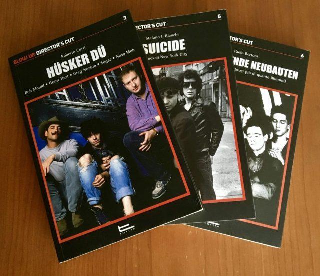 Collana Director's Cut, copertine,libri, Hüsker Dü, Suicide,Einstürzende Neubauten, Tuttle Edizioni