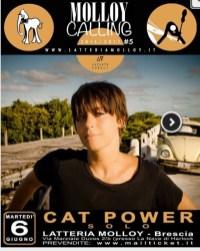 Cat Power gig poster locandina