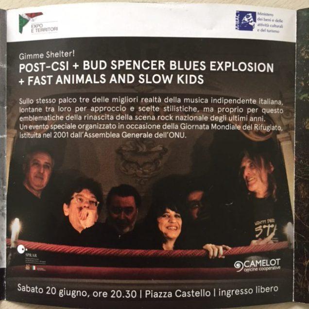 Ferrara Sotto le stelle 2015 flyer Post-C.S.I.