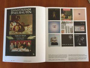 Einstürzende Neubauten, Tabula Rasa poster, copertine album, Mute - A visual document From 1978 -> Tomorrow