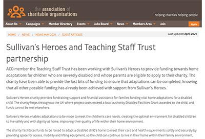 Aco Newsletter Features Sullivan S Heroes And Teaching Staff Trust Partnership Sullivan S Heroes