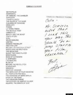 Martin Scorsese e i 39 film consigliati a un giovane regista