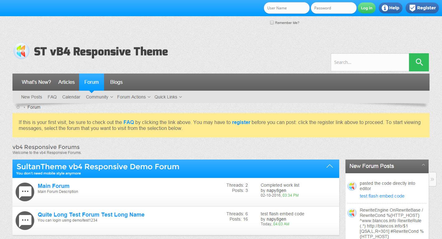 Responsive Forum Software