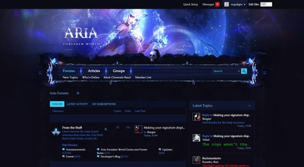 ariagaming - vbulletin cloud custom theme