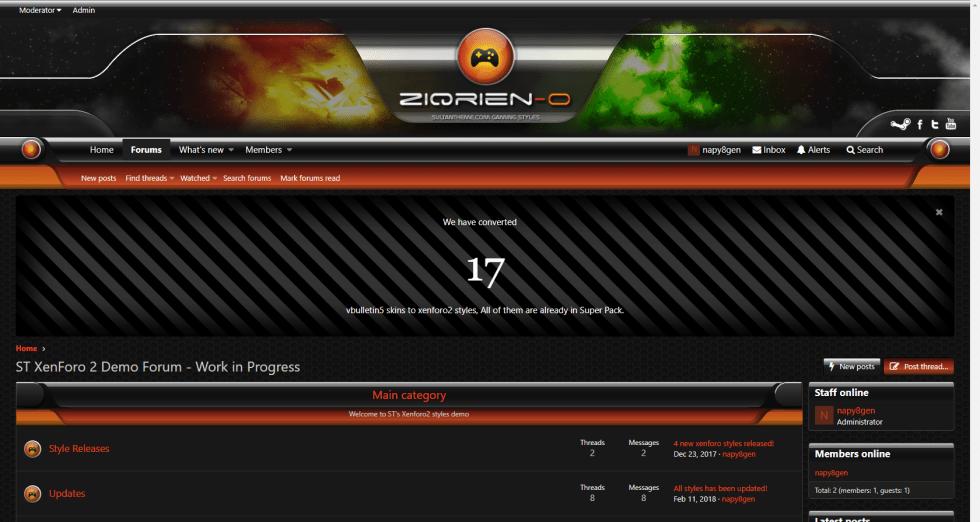 ziqrien o 2 - 7 new xenforo2 styles released!