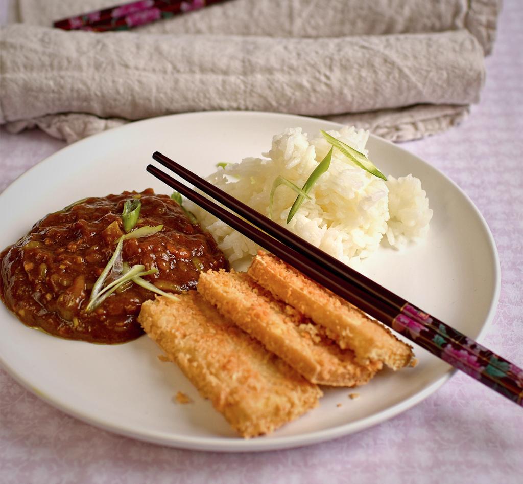 katsu curry with panko