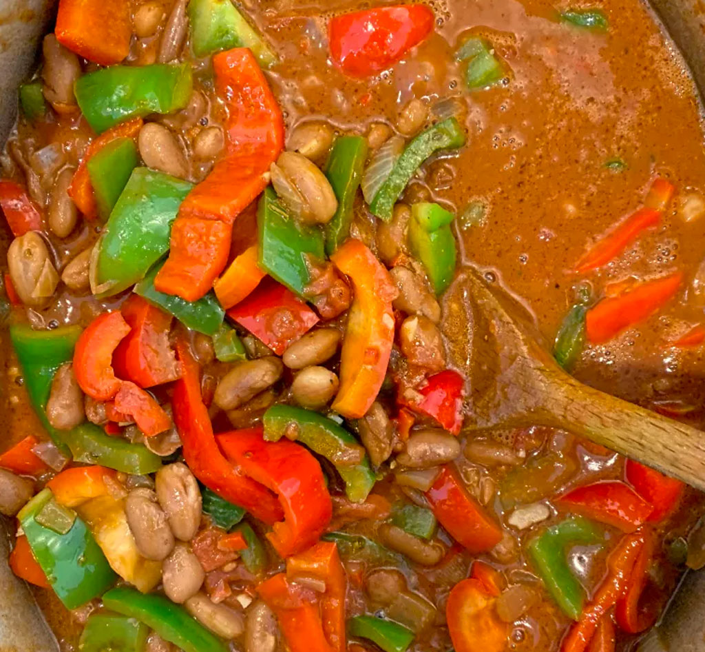 Pinto Beans with green rice recipe