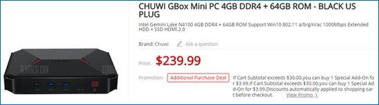 Gearbest CHUWI GBox Mini PC