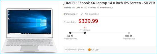 Gearbest Jumper EZbook X4 IPS Screen