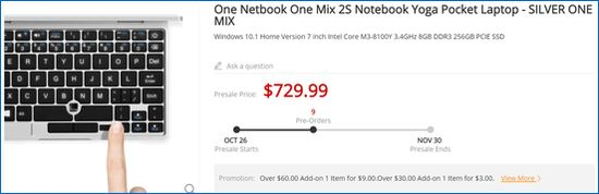Gearbest One Netbook One Mix 2S