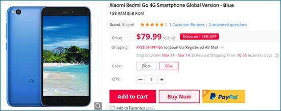 Gearbest Xiaomi Redmi Go