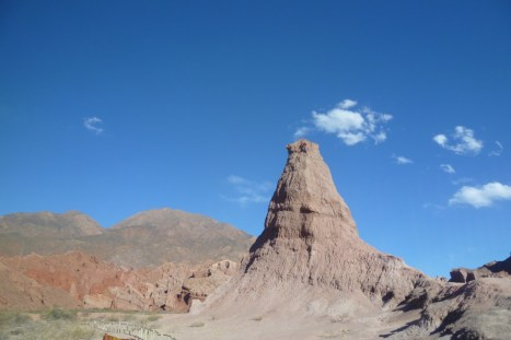 Landscape on the way from Cafayate to Salta in Argentina