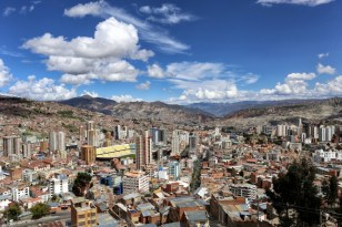Aerial view of La Paz, Bolivia