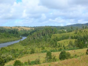 Landscape in Chiloé, during a trekking excursion with the locals