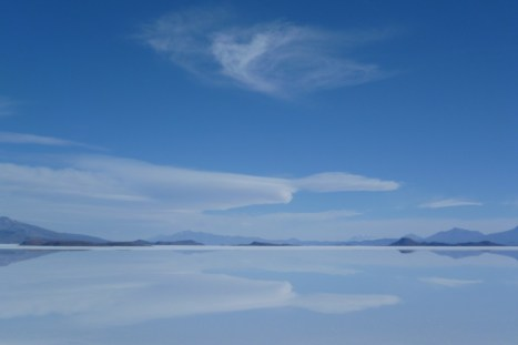 The impressive Uyuni Salt Flat in Bolivia