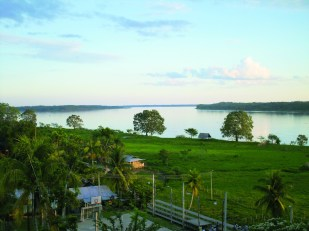 View from the lodge over the majestic Amazon river