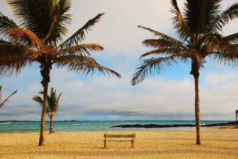 Beach in Puerto Villamil, Galapagos Islands, Ecuador tour