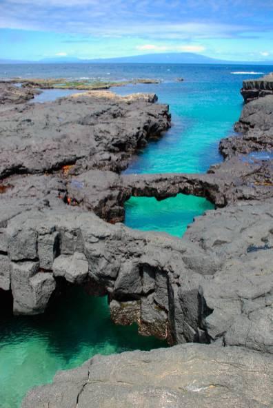 Volcanic tide pools in Puerto Egas, Galapagos Islands