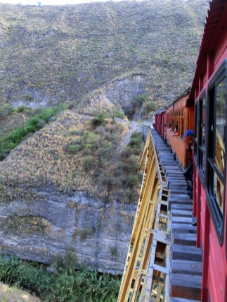 View from the Liberty Train, Ecuador