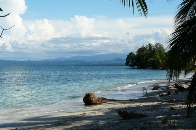 Relaxing beach at Cahuita National Park, Costa Rica