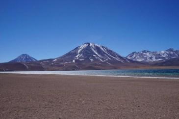 Altiplanic lagoons in the Atacama Desert, Chile