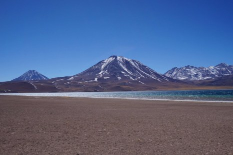Altiplanic lagoons in the Atacama Desert, Chile