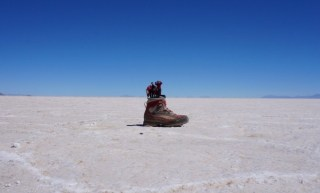 Lost in a shoe, Uyuni Salt Flat, Bolivia