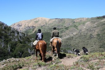 Horse riding with the rural communities in Bariloche, Patagonia Argentina