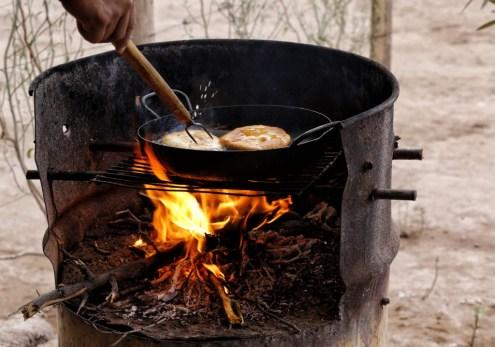 Frying some delicious sopaipilla