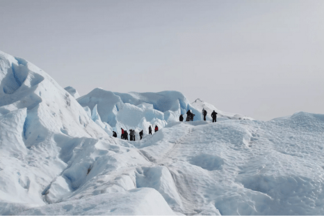 Trekking over the Perito Moreno Glacier in Argentina. Photo credit: Nuno Torres