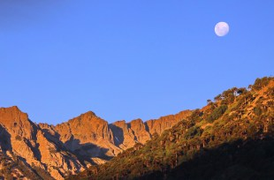 Moon over Rankewe, Indigineous Community of Quinquen, Chile
