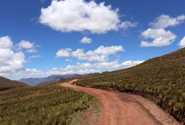 Entering Chunu Chununi during a rural tour of Bolivia